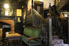 Interior of Ye Old White Harte pub, Hull, England, dating to 16th c.