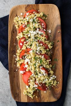 A simple summer herbed millet dish that pairs millet with fresh tomatoes. A wonderful seasonal side that comes together quickly from @NaturallyElla