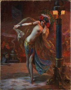 Gaston Bussière, Dance of the Veils, 1925
