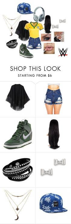 """""""Maria"""" by iiprettylittlepsychoii ❤ liked on Polyvore featuring Relaxfeel, NIKE, Marc by Marc Jacobs, Charlotte Russe, WWE, HUF and Beats by Dr. Dre"""