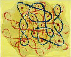 Philip Taaffe, Rangavalli Painting  L, 2014, Mixed media on canvas, 36,8 x 44,1 cm