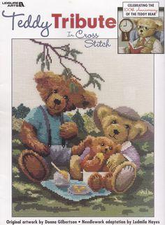 Teddy Tribute, Leisure Arts Cross Stitch Pattern Booklet 3335