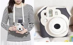 I want this!!! :D Fashion Canvas Camera Case Bag for Fujifilm Polaroid Instax MINI8 MINI8S Black   eBay