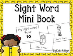 "Sight Word Mini Book - To - Help your preschool, Kindergarten, or 1st grade classroom or home school students master the sight word ""to"" with this FREE download. This freebie asks students to trace and write, so it's the perfect way to reinforce sight words in a simple, low prep format. Click through to grab it now!"