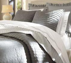 Superior Belgian Flax Linen Diamond Quilt, Twin, Ebony | Bedroom | Pinterest | Twin,  Quilt And Grey