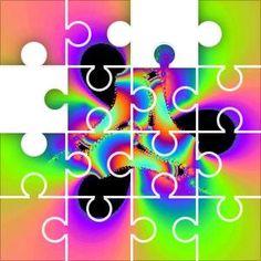 Fractal_Colors Jigsaw Puzzle, 48 Piece Classic.