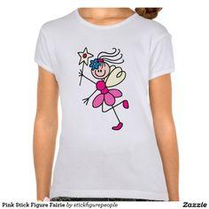 Figura rosada Fairie del palillo Camiseta
