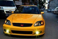 Yellow Honda