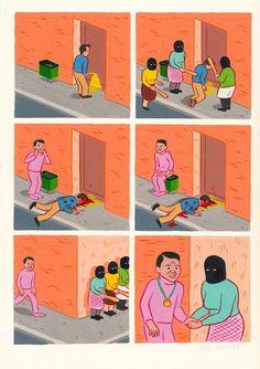Bienvenue dans un univers complètement fou et trash ! Cet univers, c'est celui d'un illustrateur espagnol qui se distingue par des bandes dessinées de 6 cases à l'humour étrange et cynique. SooCurious vous a préparé une sélection de 40 planche...
