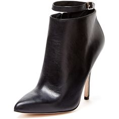 Maiden Lane Emmy Pointed Toe Ankle Strap Bootie