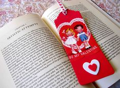 making bookmarks out of valentines
