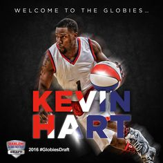 With our 1st pick, we selected actor and comedian Kevin Hart! Before becoming a world-class entertainer, he played high school hoops in Philly. He's also a 4-time celebrity game MVP.