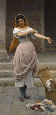 The Athenaeum - The Laundress (Eugene de Blaas - )