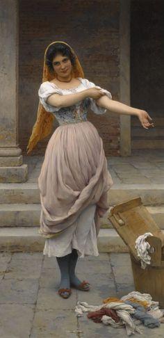 The Athenaeum - The Laundress (Eugene de Blaas - )
