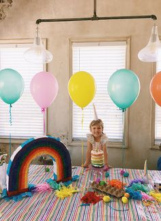 balloon row table to
