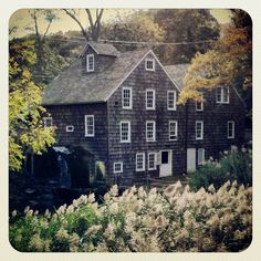 Stony Brook Grist Mill in Stony Brook, NY Built in 1751 by Adam Smith It was originally built in 1700 and destroyed in 1750 and a blond woman in a white dress haunts ..