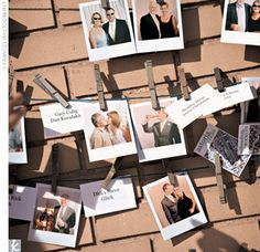 Replace escort card with Polaroid. Love this idea.