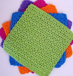 [Free Pattern] Easy Dishcloths Pattern That Works Up Quickly