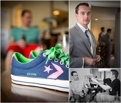 Custom Converse in your wedding colors?! Yes Please! It even has GROOM on it!