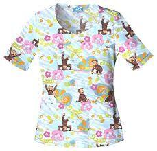 curious george scrubs - Google Search Curious George, Scrubs, Google Search, Tops, Women, Fashion, Moda, Fashion Styles, Work Wear