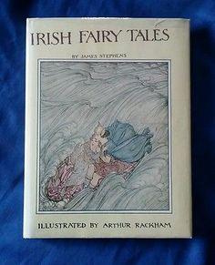 Irish Fairy Tales James Stephens Illus Arthur Rackham Vintage 1978 HCDJ Oversize
