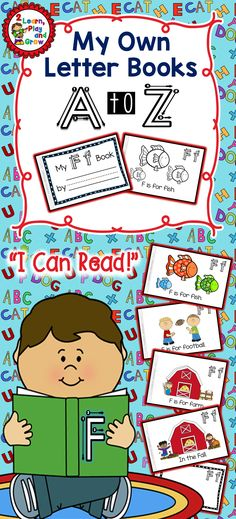 Little Books- Big Skills!!! Phonics, letter recognition, book handling skills, left to right progression, rhymes, letter formation, fine motor skills and so much more in every book. 26 Letter Books