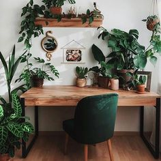 Home Office Design, Home Office Decor, House Design, Green Home Design, Green Interior Design, Interior Office, Home Design Decor, Design Ideas, Room Ideas Bedroom