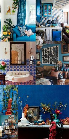 Beautiful Blue Bohemian Rooms                                                                                                                                                                                 More