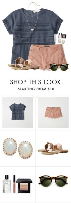 """~blush~"" by flroasburn ❤ liked on Polyvore featuring Abercrombie & Fitch, Jack Rogers, Bobbi Brown Cosmetics and Kendra Scott"
