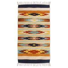 NOVICA Zapotec wool rug (2.5x5.5) (995 CNY) ❤ liked on Polyvore featuring home, rugs, area rugs, clothing & accessories, hand woven wool rugs, woven wool rug, wool rugs, novica and hand woven rugs