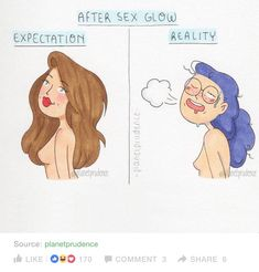 """I showed my husband this and he said I'm definitely the second one. His exact words: """"If your woman still looks like that first one, you haven't done your job right.""""<<<you're husband sounds like a smart man Smart Man, Funny Memes, Hilarious, Expectation Vs Reality, Girl Empowerment, Girl Problems, Comic Artist, Girl Humor, Funny Comics"""