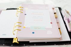 Kikki-k Leather Personal Planner In Lilac