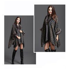 Women Luxury Faux Fur Shawl Wraps Cloak Coat Sweater Cape Poncho: Amazon.co.uk: Clothing
