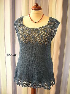 Ravelry: Knit Top / tank *Pamina* pattern by Birgit Freyer - top down, lace weight yarn