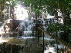 Cascada Corcho Negro en la selva lacandona