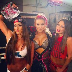 Nikki Bella, Natalya and Brie Bella Wrestling Superstars, Wrestling Divas, Women's Wrestling, Wwe Divas Paige, Wwe Nxt Divas, Paige Wwe, Brie Bella Wwe, Nikki And Brie Bella, The Bella Twins