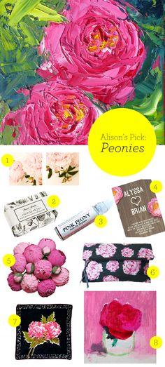 Peony-inspired picks!