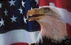 Flag & Eagle Crochet Pattern