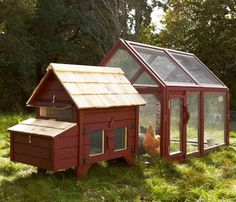 Williams-Sonoma launched a line of uber-cool homes for chickens! It's not often you see photos of chickens that look as healthy, happy, and free-to-roam as the birds enjoying these stylish modern coops.    Read more: Williams-Sonoma Rolls Out High-End Chicken Coops in Agrarian Product Debut | Inhabitat - Sustainable Design Innovation, Eco Architecture, Green Building