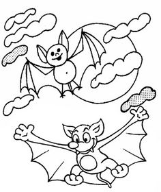 In funny realistic and cartoon of bat coloring pages, kids ages 4 and up will enjoy hours of happy entertainment while reinforcing their knowledge of Bat Coloring Pages, Coloring Pages For Kids, Halloween Bats, Halloween Themes, Cartoon, Funny, Top, Animals, Children Coloring Pages