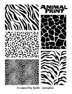 animal print stencils printable  Stencils from our Modern Design