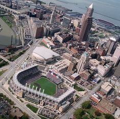 Cleveland, Ohio....I've been to Jacobs Field, Quicken Loans Arena, and Cleveland Browns Stadium!.....also the Science Museum...