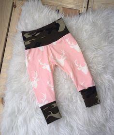 RTS baby leggings camo baby girls leggings pink by marysayssew Baby Girl Leggings, Pink Leggings, Camo Baby Stuff, Baby Girls, Sweatpants, Trending Outfits, Etsy, Fashion, Moda