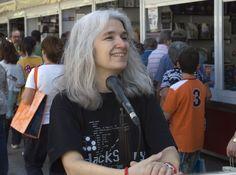 4/06/15 EL MICRO DE LA FERIA: Belén Gopegui, escritora. Foto © Jorge Aparicio/ FLM15