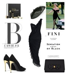 """""""Black"""" by fini-i ❤ liked on Polyvore featuring Azzaro, STELLA McCARTNEY, Vision, Ted Baker and Kilian"""
