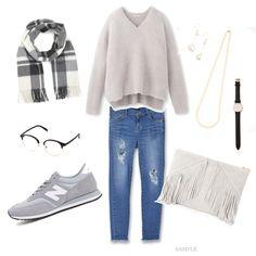 人気コーデ7 Winter Looks, Nail Jewelry, Everyday Outfits, Fasion, Fashion Photo, Autumn Winter Fashion, Winter Outfits, Black And Grey, Dress Up