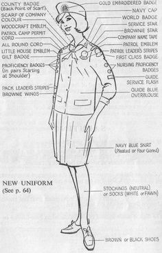 1966 new Guide Uniform. Guides Uniform, Guide Badges, Scouting For Girls, Robert Baden Powell, 60s Theme, Girl Scout Uniform, Embroidered Badges, Camping Blanket, Girl Guides