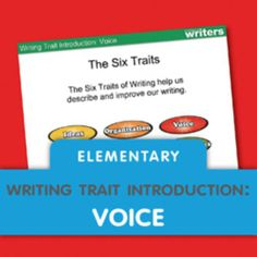 Download this writing mini lesson on Voice to share with your elementary students.