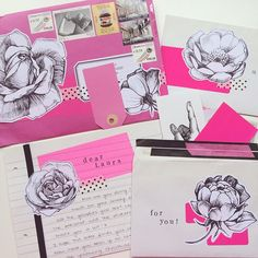 """""""Amazing mail from Sara of @whatshewas - my last received for 2014! Thanks to all my lovely penpals for a perfect first year of letters and happy new year…"""""""