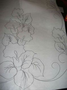 Flores para copiar y bordar embroidery patterns, floral embroidery, hand embroidery, embroidery stitches Flower Pattern Drawing, Floral Drawing, Flower Patterns, Flower Designs, Hand Embroidery Designs, Floral Embroidery, Embroidery Stitches, Embroidery Patterns, Tole Painting